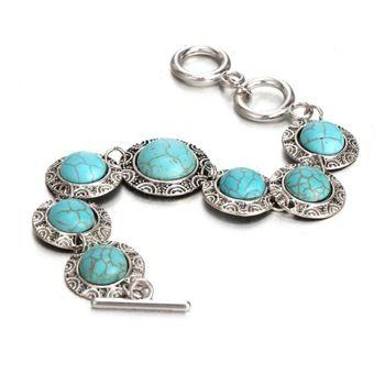 Retro Turquoise Bracelet //Price: $ 9.97 & FREE Shipping //     #jewelry #jewels #jewel #fashion #gems #gem #gemstone #bling #stones   #stone #trendy #accessories #love #crystals #beautiful #ootd #style #accessory   #stylish #cute #fashionjewelry  #bracelets #bracelet #armcandy #armswag #wristgame #pretty #love #beautiful   #braceletstacks #earrings #earring