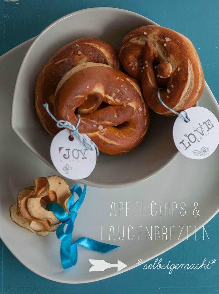 Food Friday : Apfelchips und Laugenbrezeln | vegan, pflanzlich http://kleinstyle.com