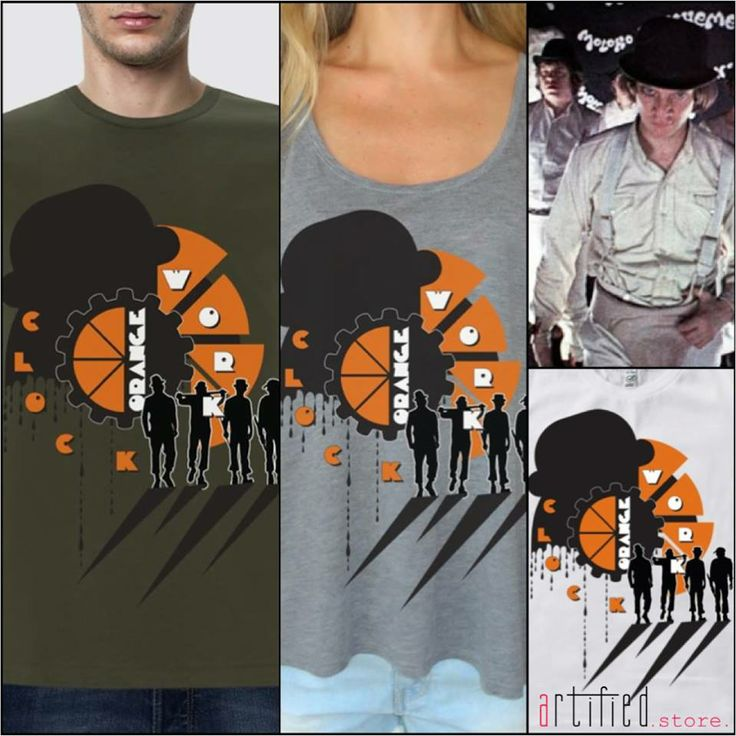 "Inspired by Stanley Kubrick's well known movie ""Clockwork Orange"", this new ""artified"" t-shirt design is available in our e-shop in a variety of colors for all!! Men, women & kids!! Order here!!! MEN: http://www.artifiedstore.com/el/ανδρικα/60-m01-clockwork-t-shirt.html WOMEN: http://www.artifiedstore.com/el/γυναικεια/21-w96-clockwork-orange-t-shirt.html KIDS: http://www.artifiedstore.com/el/παιδικα/78-k01-clockwork-t-shirt.html"