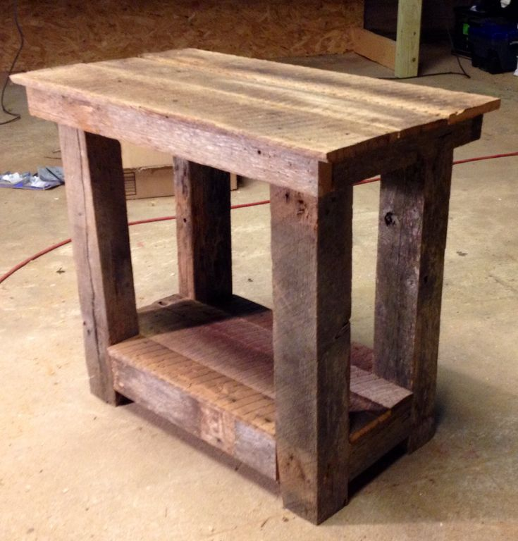 Exceptional Barn Wood End Table I Built From An Old Barn In My Field
