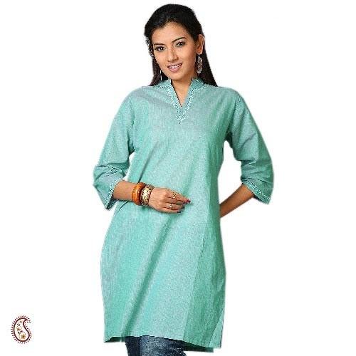 Greenish Blue Mangalgiri Kurta - 10030LLK1101 #Greenish #Kurta