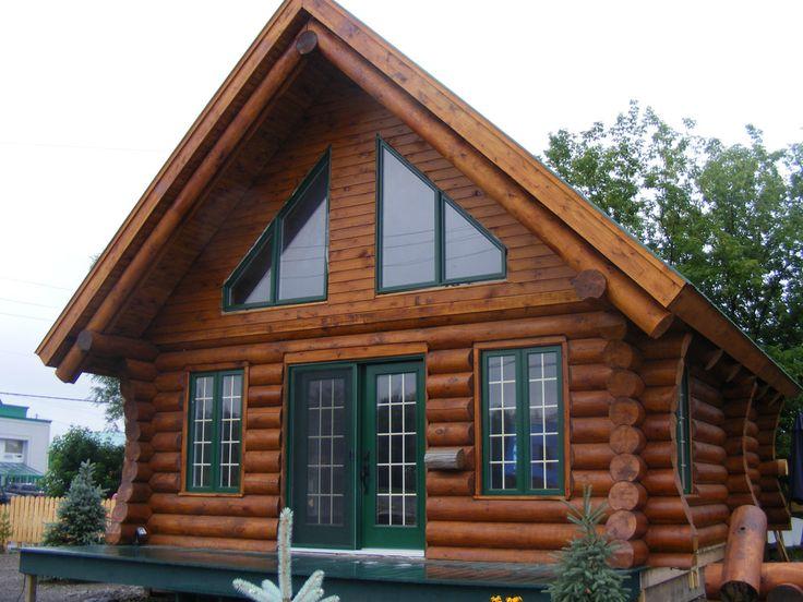 Maisons de bois rond usin mod le alpin patriote for Modele maison bois