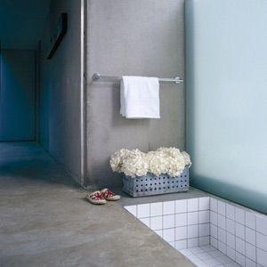 Badrum Designgolv på golv samt i duschutrymme