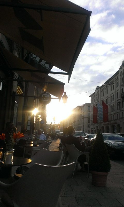 once, Sunset in Munich