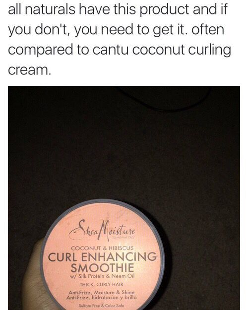 Shea Moisture Curl Enhancing Smoothie // @OfficialTune