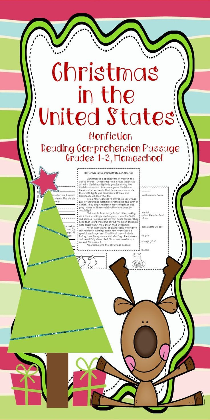 This Christmas Around the World United States reading comprehension passage for grades 1-3 can be used in your class to help your students with reading comprehension skills as well as with test taking skills.   Please take a preview peek!   Included: An engaging passage with 4 multiple choice questions and 2 written responses.