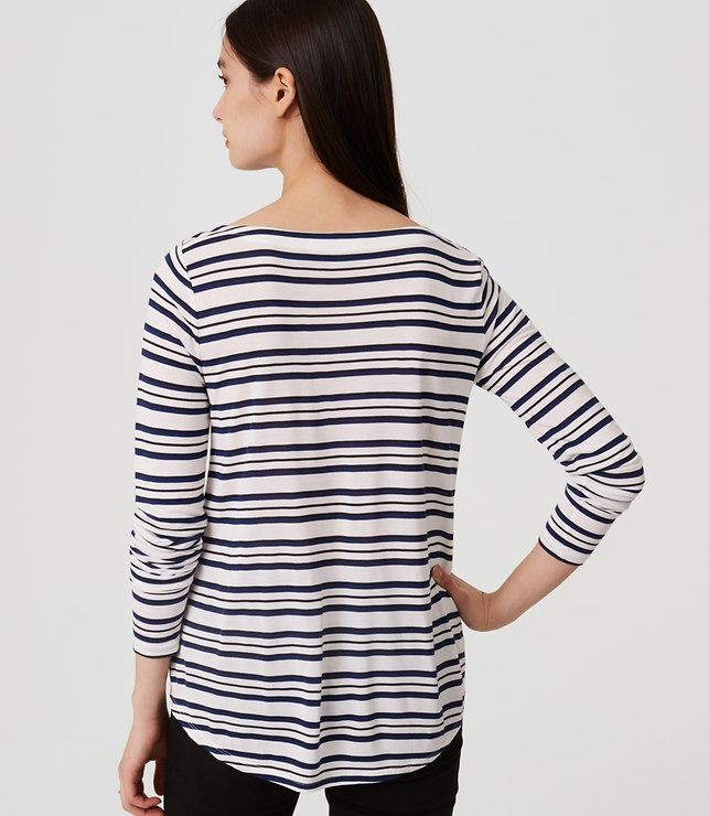 LOFT Striped Shirttail Tee