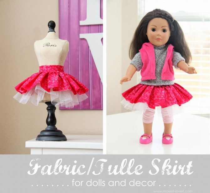 {fabric & tulle skirt}