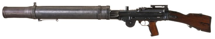 Lewis M1914 Automatic Rifle Designed by American colonel Isaac Newton Lewis, manufactured by Birmingham Small Arms in England c.1913-1942 - Serial Number 34049. 47-rounds .303 British pan magazine, gas-operated full automatic.
