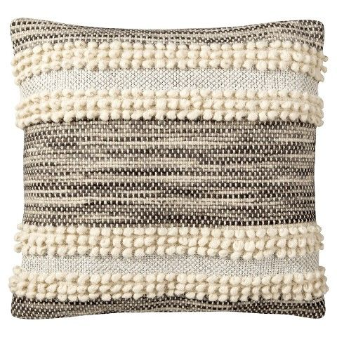 Nate Berkus pillow with Pom poms