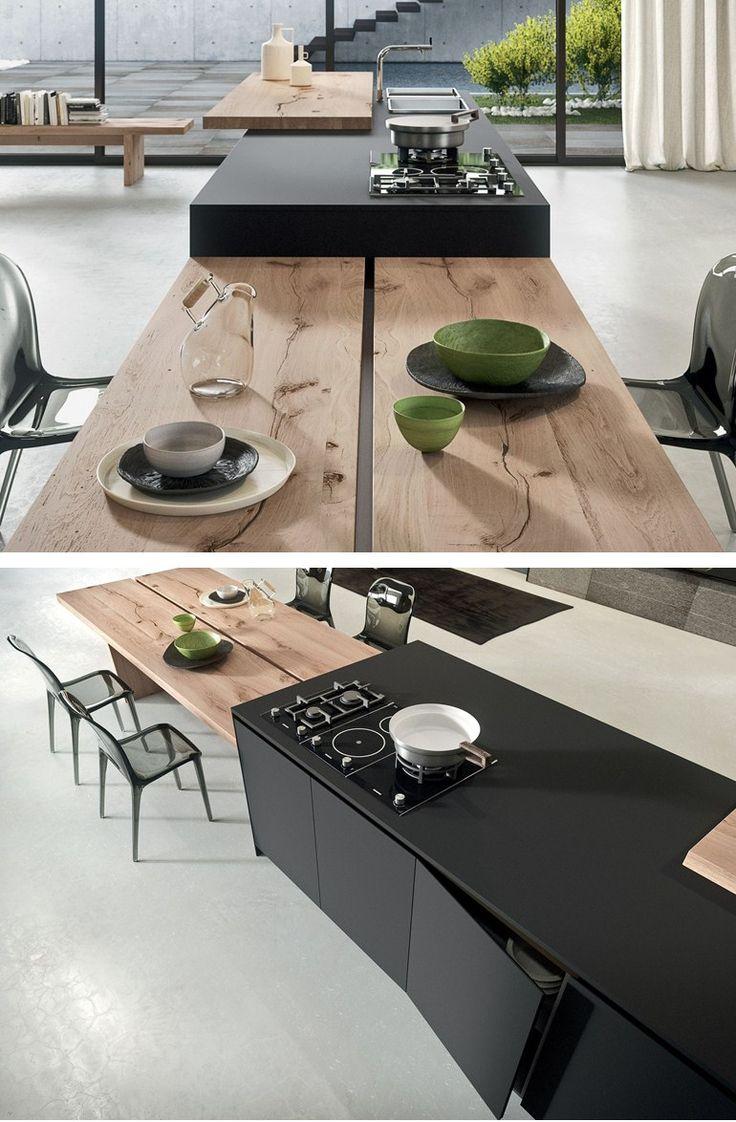 Fenix-NTM® kitchen with island AK_04 by Arrital | #design Franco Driusso @arritalcucine
