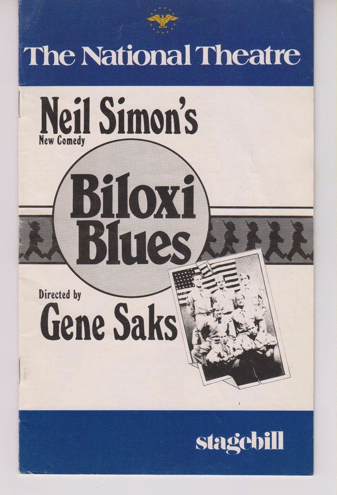 The National Theater Stagebill Biloxi Blues William Ragsdale Gene Saks