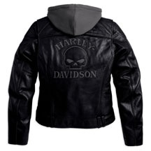 Women's Reflective Skull 3-in-1 Leather Jacket   MotorClothes® Merchandise   Harley-Davidson USA