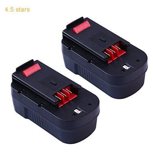 2-Packs 18V 3.0Ah Replace Battery for Black & Decker HPB18 HPB18-OPE 244760-00 Firestorm A18 FS180BX Cordless Power Tools (GERIT BATT)
