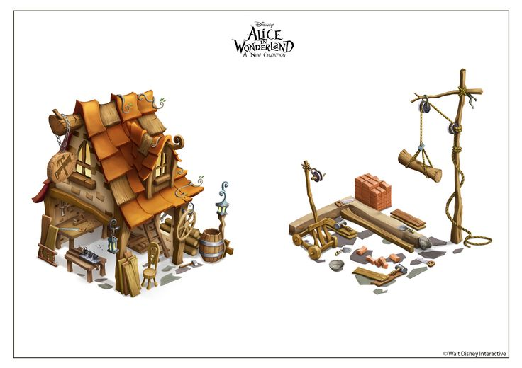 Isometric Art work did for Alice in wonderland Mobile game by Suresh Pichuka on ArtStation.