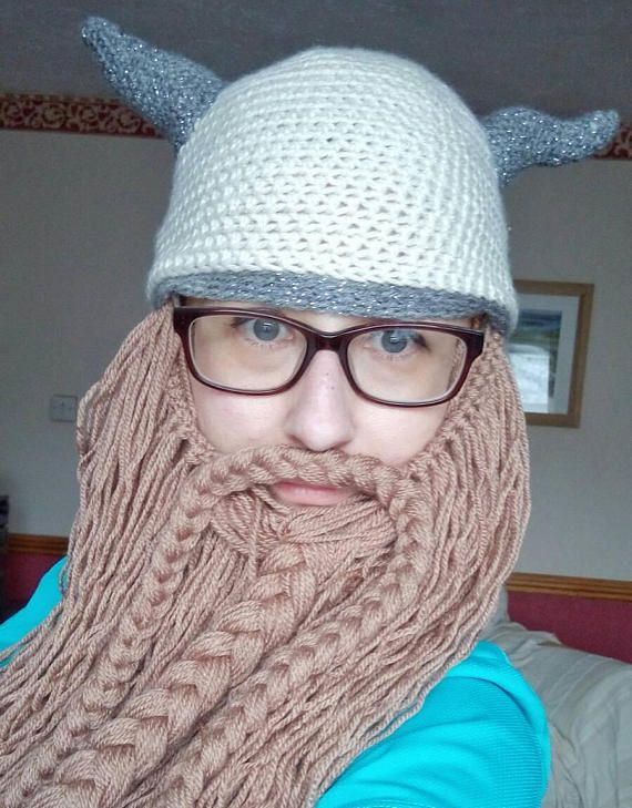 Check out this item in my Etsy shop https://www.etsy.com/uk/listing/554125597/detachable-viking-beard-hat-woollen