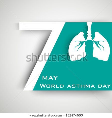 World asthma day background with lungs. by Allies Interactive, via Shutterstock