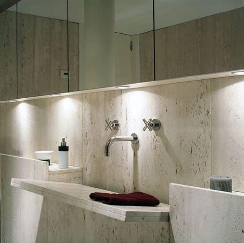 Encimera de lavabo simple de piedra natural de m rmol - Encimera piedra natural ...