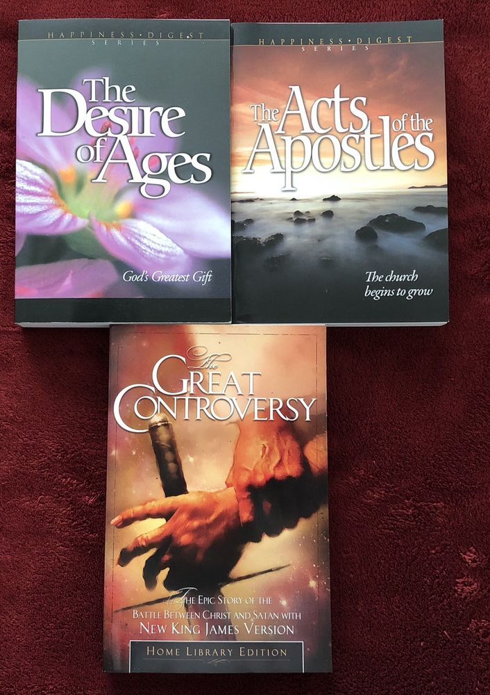 Ellen G White Trio Desire Of Ages Acts Of Apostles Great