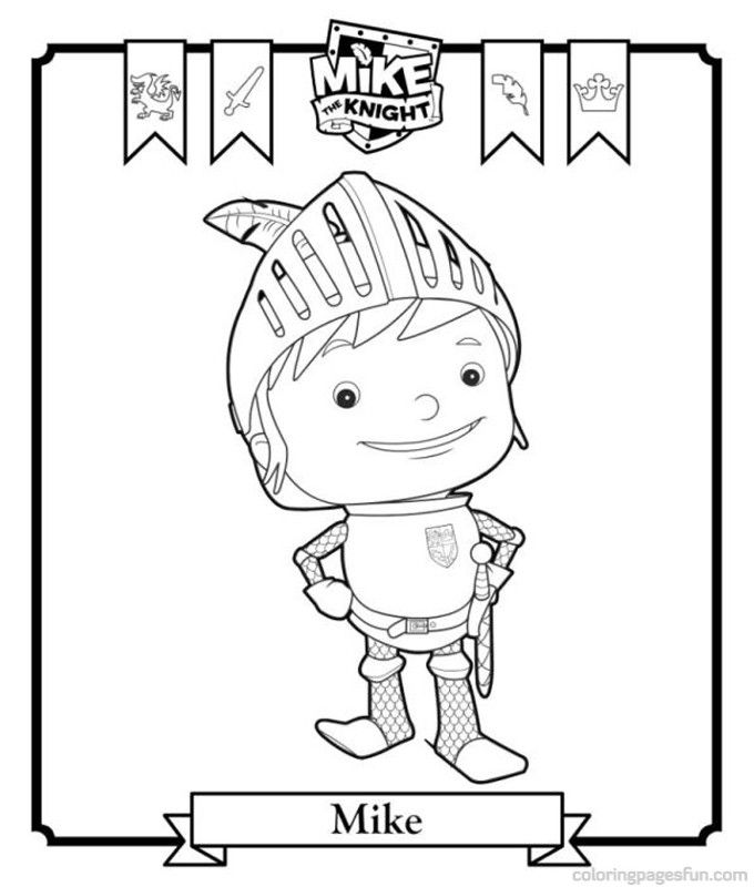 Mike the Knight Coloring Pages 3