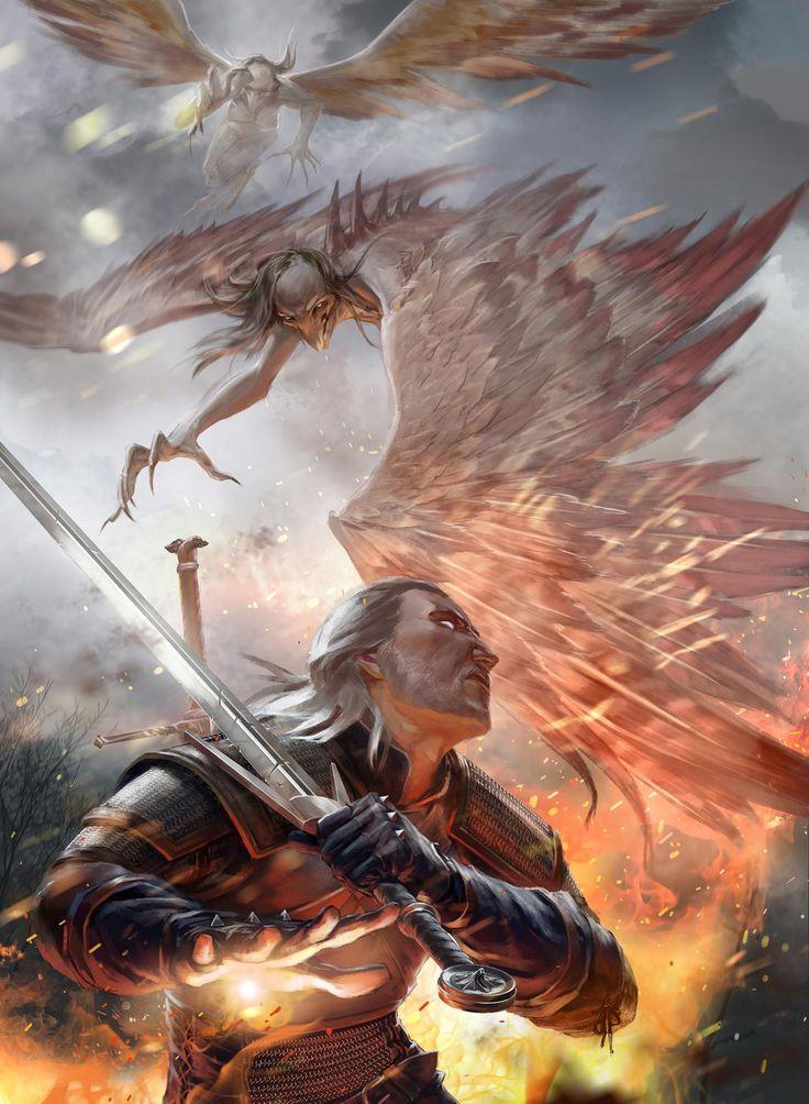 The Witcher by Anna Kozhevnikova TheWitcher3 PS4