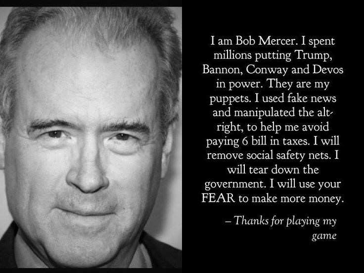America - It all boils down to Robert Mercer. Get curious. Get familiar. Because he's in control. For now.