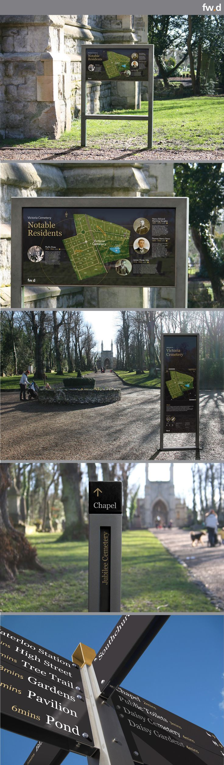 Lily sign system for cemeteries by fwdesign. http://www.fwd-product.com/