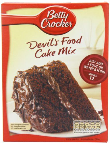 Betty Crocker Devils Food Cake Mix 500g  Pack of 6 ** Click image for more details.(This is an Amazon affiliate link and I receive a commission for the sales)