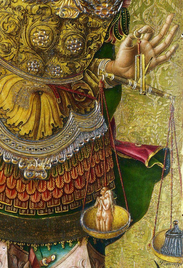Карло Кривелли Алтарь из Асколи Пичено Святой Михаил Британская Национальная галерея (National Gallery, London)