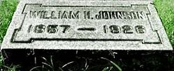 "Gravestone of William Henry Johnson, better known as P.T. Barnum's attraction ""Zip, the Pinhead"""