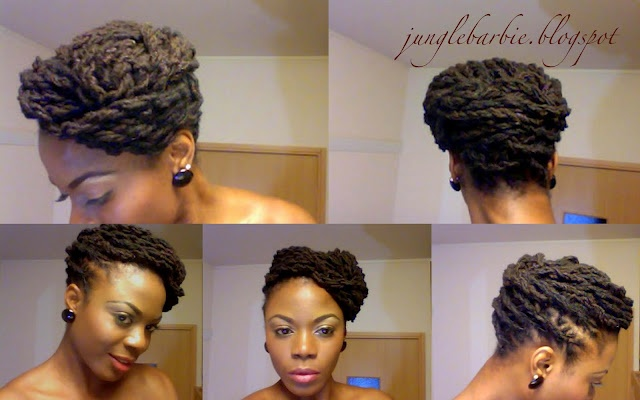Loc updo - great style while working on another style