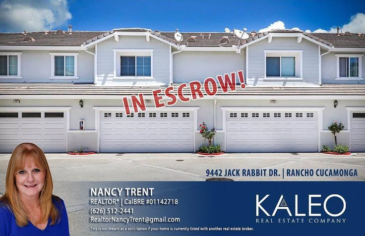IN ESCROW!! Call Nancy Trent if you're looking to BUY or SELL! (626) 512-2441 #kaleorealestate #ranchocucamonga #kaleoagent #buy #sell #house #home #inescrow #upland #claremont