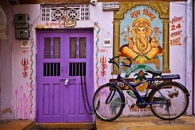 Indian colors, purple door :)