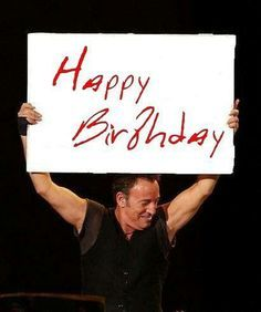 Image result for image of bruce springsteen saying happy birthday