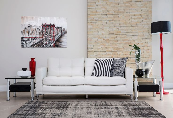 White Couch | Rochester Furniture