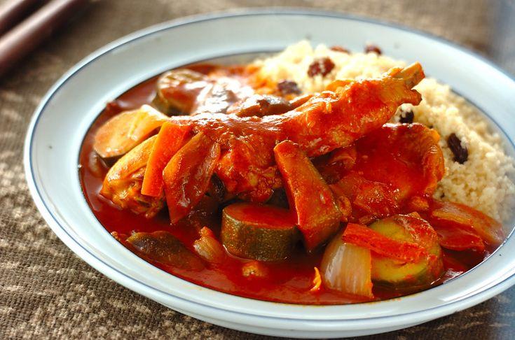 スパイシーなスープとクスクスのプチプチ感は後引くおいしさクスクス・鶏肉のトマト煮込みソース/中島 和代のレシピ。[エスニック料理/麺料理(フォー等)]2011.05.30公開のレシピです。