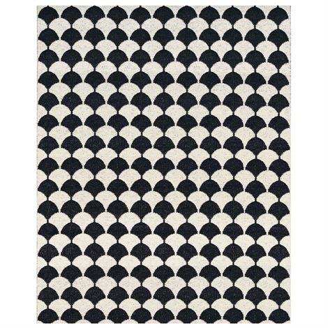 Gerda rug black large from Brita Sweden