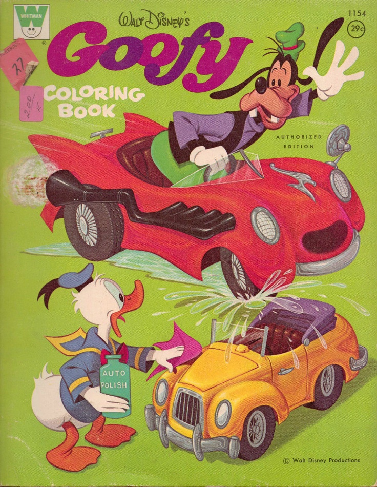 Goofy Coloring Book, Whitman #1154, 1970