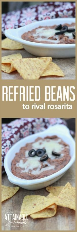 It took me years to find a refried bean recipe that my family loved. These are the winners!