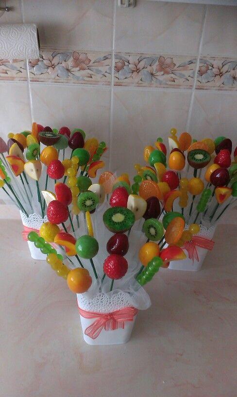 Sabundan meyve sepetleri hazır