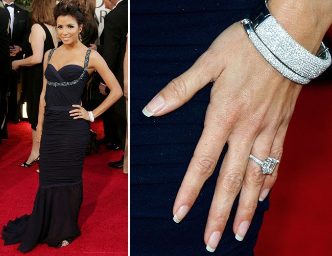 The Desperate Housewives star, Eva Longoria\'s engagement ring is a  beautiful 5 carat emerald set