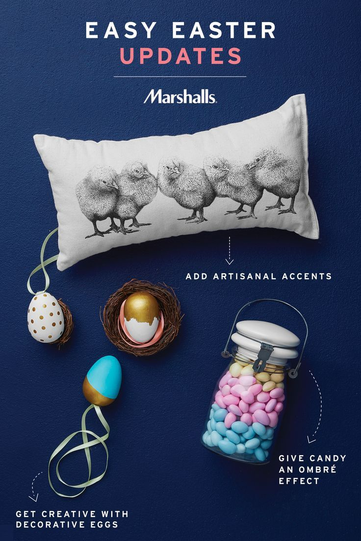 Find easy easter updates for your home at marshalls brighten up
