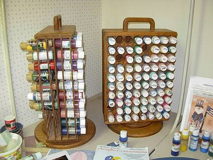 craft paint storage ideas house projects thread spool rack magazine rack and paint 4006