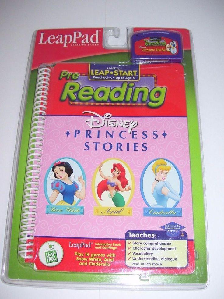Leap Frog LeapPad Disney Princess Stories PreReading Book Cartridge Up to 5yr #Disney