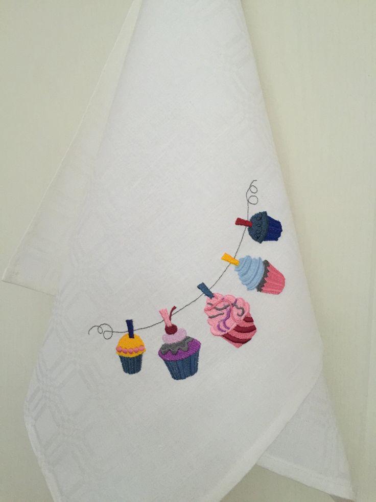 Tea Towel Linen Cotton Dish Towel Embroidery Kitchen Towel Kitchen Decoration (21.80 USD) by Rokasdarbi