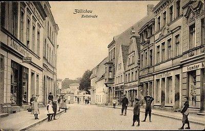 Ak Sulechów Züllichau Ostbrandenburg, Zollstraße, Geschäfte,... - 1130492