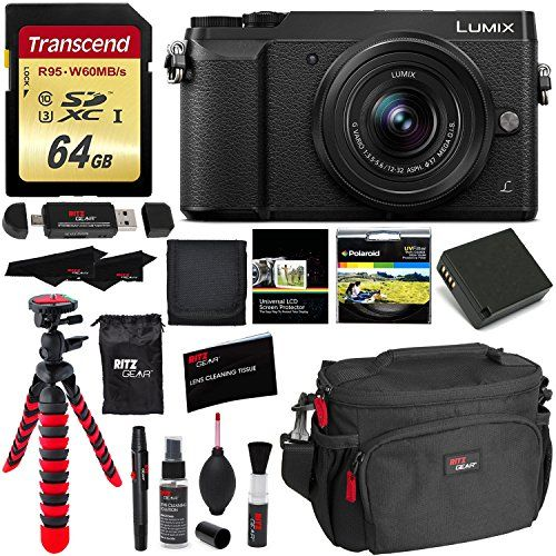 Panasonic GX85 4K Mirrorless Interchangeable Lens LUMIX Camera Kit With 1232mm Lens Polaroid Filter Transcend 64 GB Memory Card Wallet Spare Battery Ritz Gear Cleaning Kit  Accessory Bundle -- Be sure to check out this helpful article.