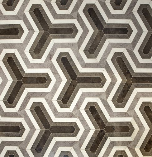 Fiorentina stone patterned floor collection by David Hicks