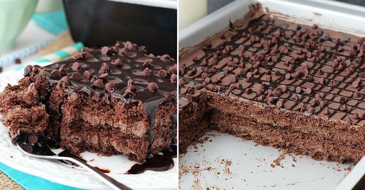 Nepečené čokoládové řezy s třemi druhy krémů | Čarujeme