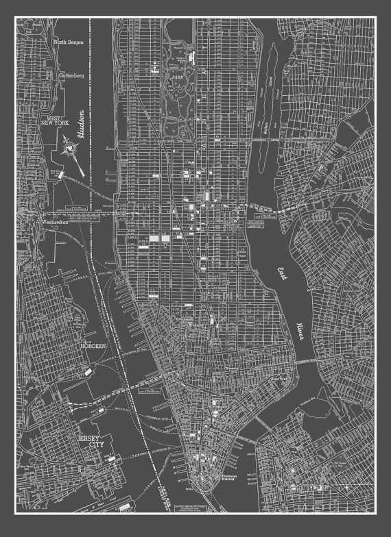 New York City Map New York City Manhattan Street Map Vintage – Street Map Nyc